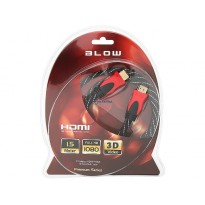 Kabel HDMI-HDMI PREMIUM 1.5m RED